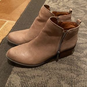 Tan Lucky Brand Ankle Boots